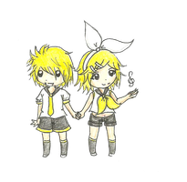 Kagamine Twins by Jackie-Cat-Demon