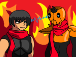 Battle of the Scarfs by Dictator-Heartless
