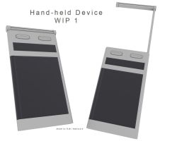 Hand-held Device - WIP 1 by Mallacore