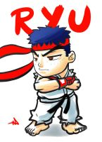 Ryu Chibi by WayneAlright