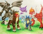 Dominick's Pokemon Team by shadowrules13