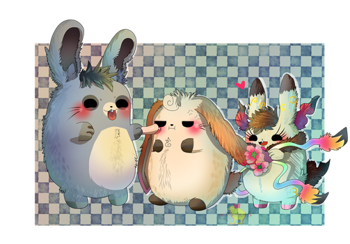 RabbitFam gang! [ Commission ] by Hiyoko-little-chick