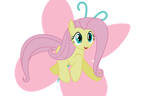 Joyful Fluttershy by Senkan