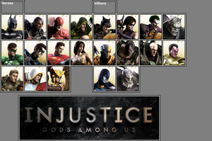 Official Injustice: GAU Roster as of 3-18-13 by xXKyraRosalesXx