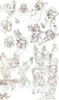 Rescue Rangers sketch dump by Nadesican