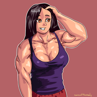Another Muscle Girl by NeroScottKennedy