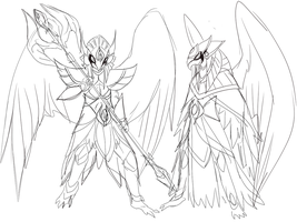 Avian Golden Guardian concept by FireEagleSpirit