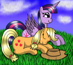 Chilling On The Grass (gift) by heartshielder1991