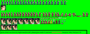 Phoenix Wright and Miles Edgeworth ZX Sprite Sheet by NightmareZero187