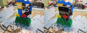 Minecraft perler beads iphone stand by zorberema