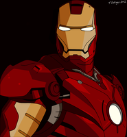 Ironman Vector Full Color Print by timdallinger