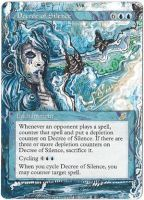Magic Card Alteration: Decree of Silence by Ondal-the-Fool