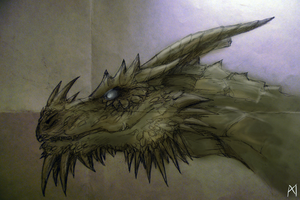 Paarthurnax doode thing idfk by BlueRodeo