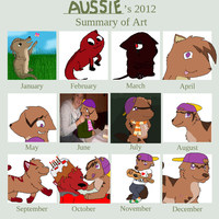 Art Summary 2012 by qalaxybutt