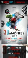 3D Madness Flyer Template by odindesign