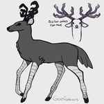 Deer bird thing by GoreFeathers