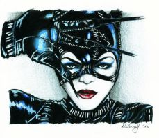 Catwoman Portrait - Michelle Pfeiffer by Shiranui94