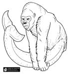 Gorilla Whale Lineart by Nightlyre