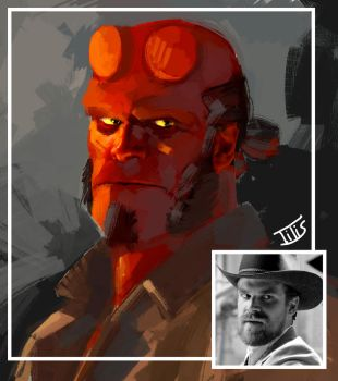 Just to see how he looks like...Hellboy 03 by IttoOgamy