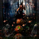 Witch in the Pumpkin Patch by Rickbw1