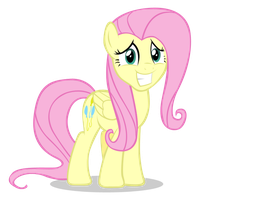 Fluttershy's Cheesy Grin by Scootaloooo