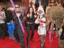 Hawkeye, Black Widow and Assassin's Creed by nx20