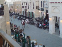 Doha Souq Horses by Arcturion