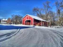 Snow On A Country Road by jim88bro