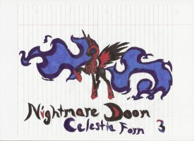 Nightmare Doom Celestia Form by DarkestDragonKing