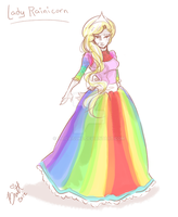 Human Lady Rainicorn by TaiDaisuke