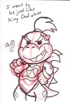 Bowser Jr. Sketch Card by Pembroke