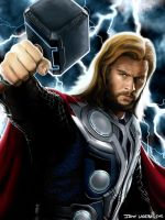 Thor Odinson, God of Thunder by Some-Bored-Guy