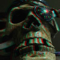 Pirate Skull 3-D conversion by MVRamsey
