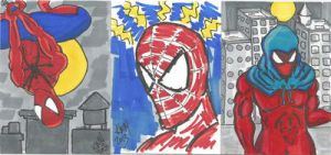 Spidey sketch cards by kylemulsow