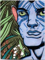 Avatar Sketch card by The-Standard
