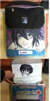L Death Note Lunchbox: Front and Back by ChibiStarChan