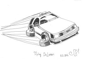 A flying DeLorean by request by vihervirveli