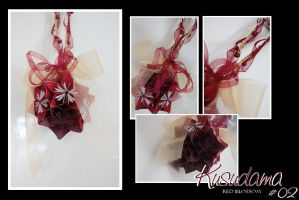 Kusudama No.2 - Red Blossom by Fairy-Wing