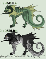 Mutated Feline Adopts 03 :CLOSED: by flannelRaptors