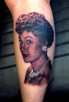 I Love Lucy Tattoo by thick-mcrunfast