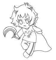 Chibi Karkat - Knight of Blood lineart by ForeverRoseify