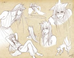 Youko gestures and expressions by Yon-kitty