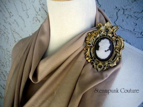 Resin Steampunk Cameo Pin by ByKato