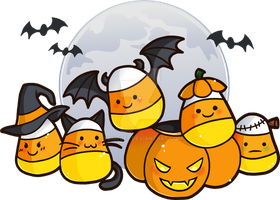 Candy Corn Critters by YamPuff