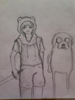 Finn and Jake anime style by Lemonthrower