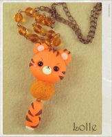 Clay Flurry Tiger by LolleBijoux