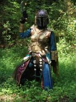 Mandalorian in the forest by misstoril