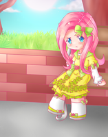 Humanized Chibi Fluttershy by Oathkeeper21