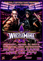 WWE - WRESTLEMANIA 30 custom poster by TheIronSkull