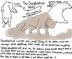 New Species: The Sandustrial Wolf by KelsysAdoptables